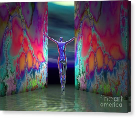 Pushing Boundaries Canvas Print by Sandra Bauser Digital Art