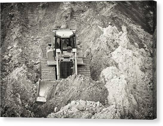 Pushing Dirt Canvas Print