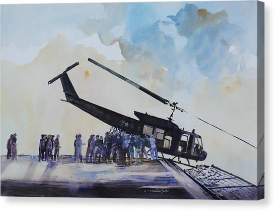 Bittersweet Canvas Print - Pushover - South China Sea 1975 by P Anthony Visco
