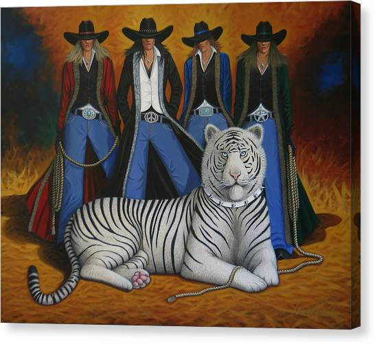 Colorado Cowgirl Canvas Print - Pussycat Dolls by Lance Headlee