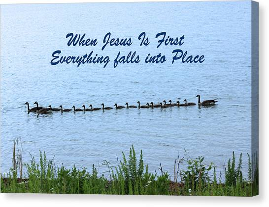 Put Jesus First Canvas Print