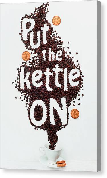 Cake Canvas Print - Put The Kettle On! by Dina Belenko
