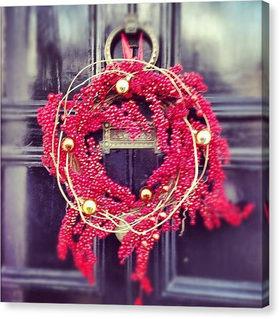 Wreath Canvas Print - Put The #wreath On The Door, Getting by Gemini Adams