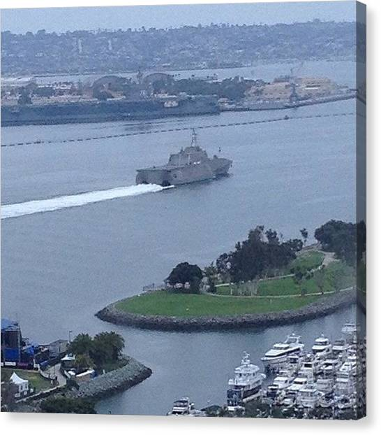 Battleship Canvas Print - Putting Things Into #perspective In by Rainey Shafer