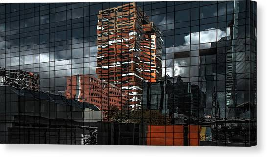 Puzzle Reflection Canvas Print by Gilbert Claes