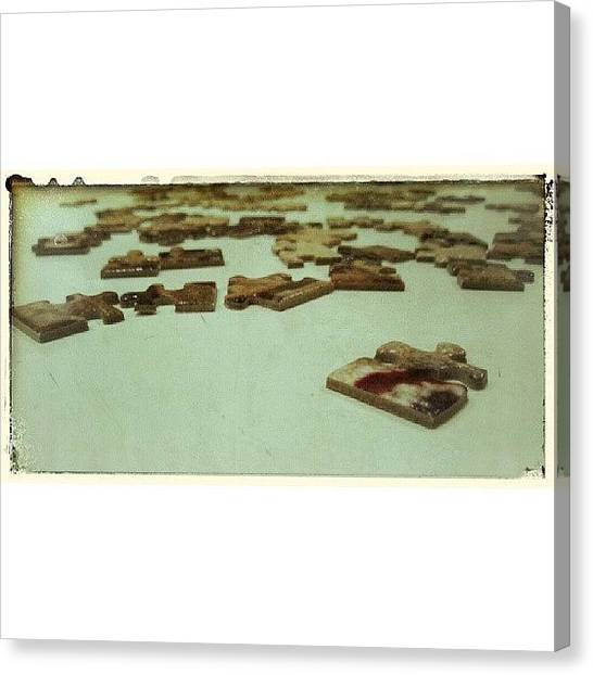 Saws Canvas Print - #puzzle #saw #interminable by Jesus Cobos Pastor