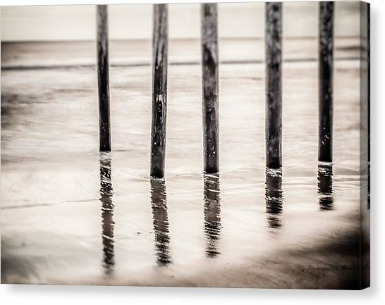 Pylons In Black And White Canvas Print