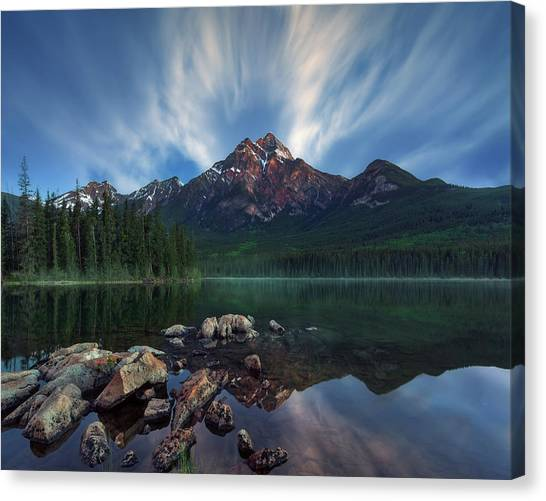 Alberta Canvas Print - Pyramid Light by Juan Pablo De