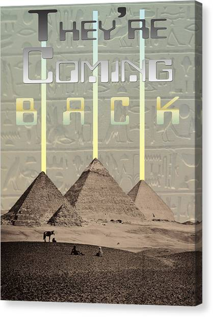 Pyramids Ufo Landing Site Canvas Print by