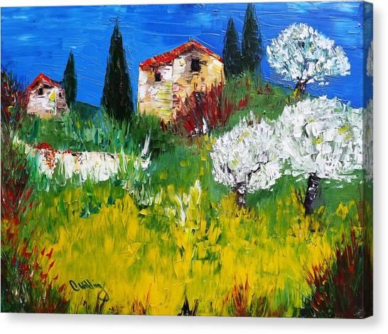 Pyrenees Farm  Canvas Print