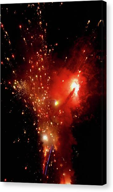 Black Rock Desert Canvas Print - Pyrotechnic Display by Peter Menzel/science Photo Library