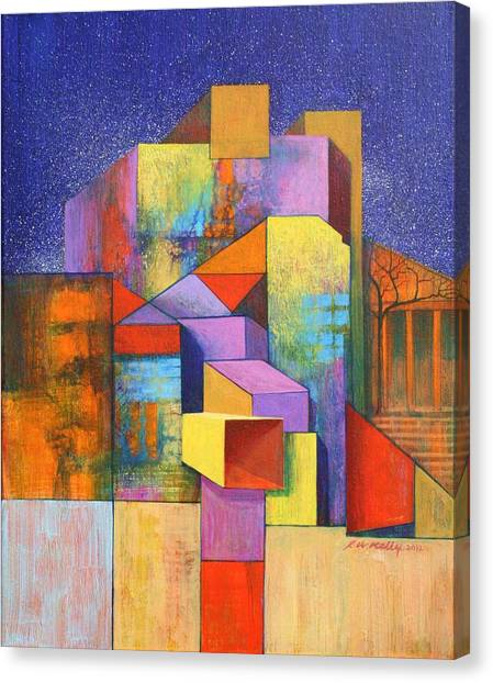 Pythagoras Revisited Canvas Print by J W Kelly
