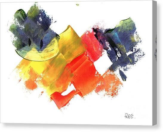 Quack Quack Abstract Duck Canvas Print