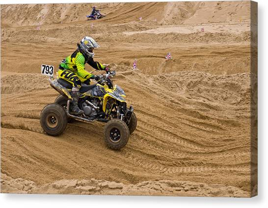 Quad Bike Racer Canvas Print