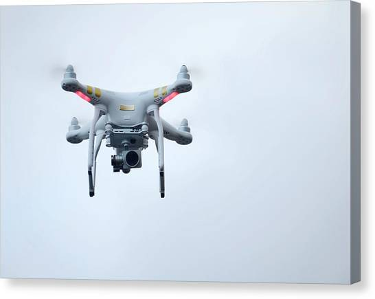 Big Brother Canvas Print - Quadcopter Drone With Camera by Cordelia Molloy