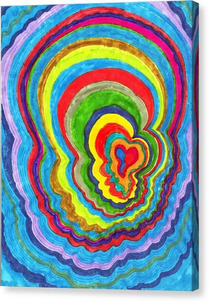 Quakey Breakie Heart Canvas Print by Brenda Adams