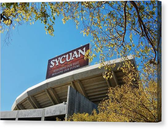 San Diego Padres Canvas Print - Qualcomm Bilboard by See My  Photos