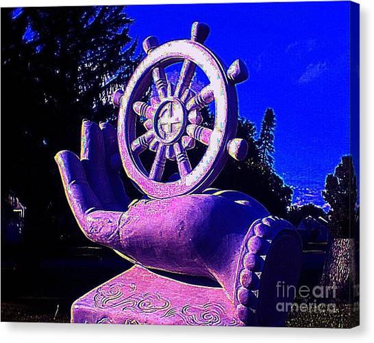 Buddhist Dharma Wheel 2 Canvas Print