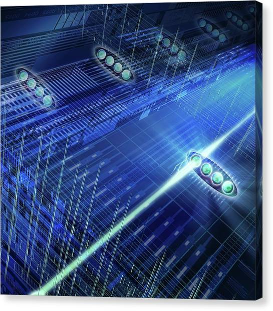 Computer Science Canvas Print - Quantum Computer by Harald Ritsch