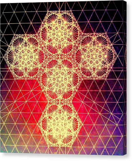 Quantum Cross Hand Drawn Canvas Print