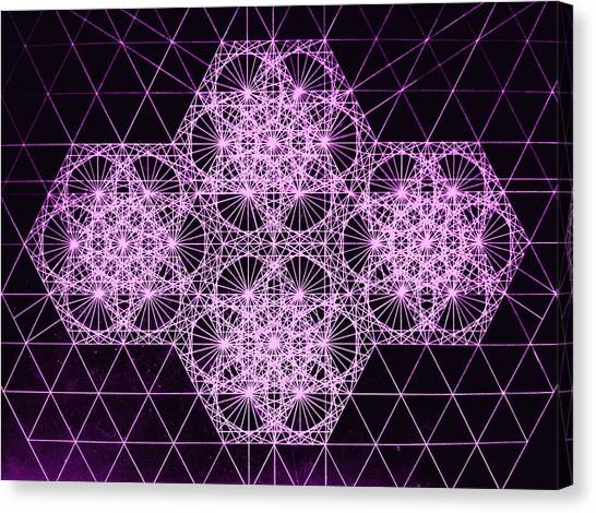 Genius Canvas Print - Quantum Snowfall by Jason Padgett