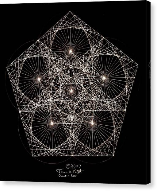 Washington State University Canvas Print - Quantum Star II by Jason Padgett