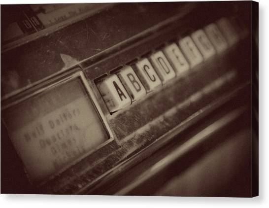 Jukebox Canvas Print - Quarter For The Jukebox by Toni Hopper