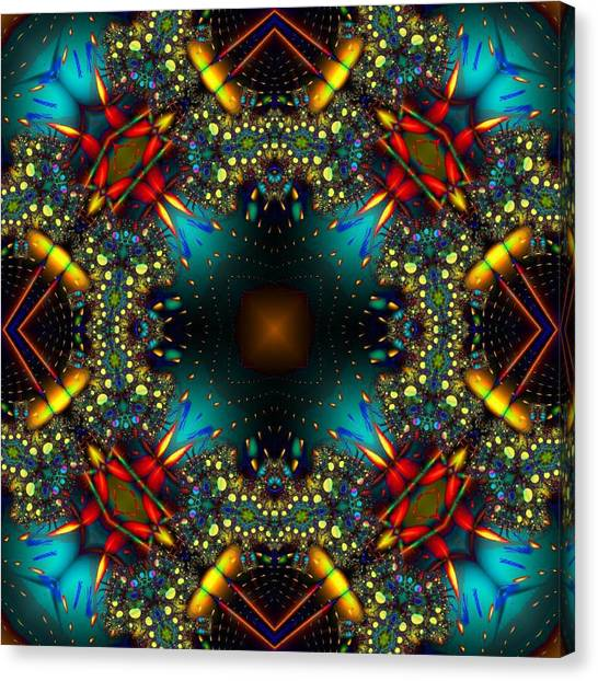 Quasar Kaleidoscope No 1 Canvas Print