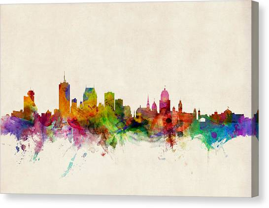 Quebec Canvas Print - Quebec Canada Skyline by Michael Tompsett