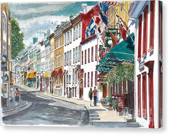 Quebec Canvas Print - Quebec Old City Canada by Anthony Butera