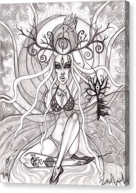 Queen Aeranelii Canvas Print by Coriander  Shea
