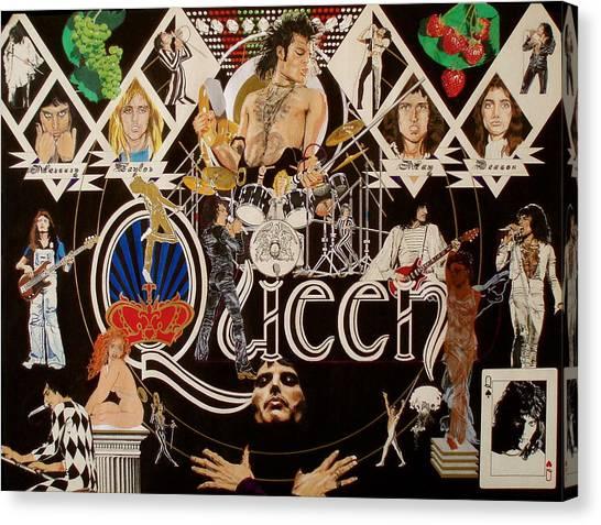 Queen - Black Queen White Queen Canvas Print