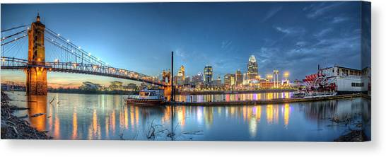 Queen City Panorama At Twilight Canvas Print