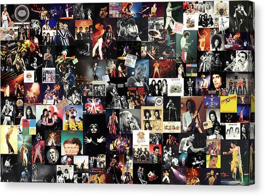 Led Zeppelin Canvas Print - Queen Collage by Taylan Apukovska