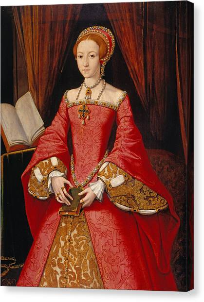 Queen Elizabeth Canvas Print - Queen Elizabeth As A Princess by William Scrots