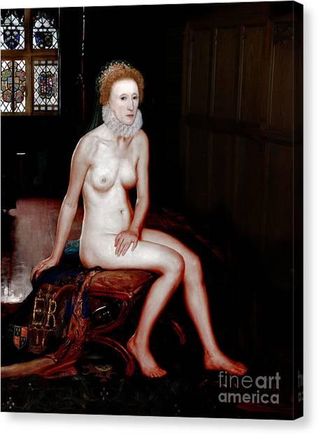 Queen Elizabeth I Seated Nude Canvas Print