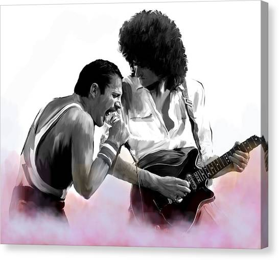 Queen II  Freddie Mercury And Brian May Canvas Print