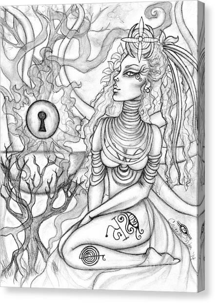 Queen Haelane Canvas Print by Coriander  Shea