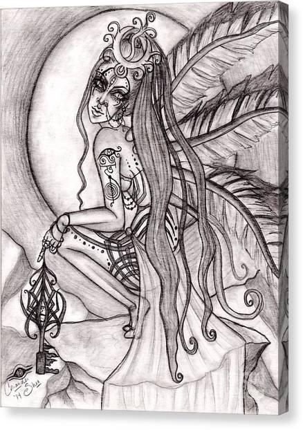 Queen I' Eloraii Canvas Print by Coriander  Shea