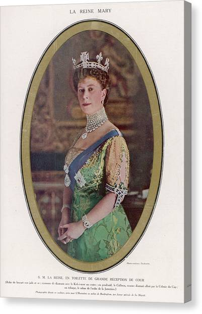 Queen Mary (1867 - 1953) Wearing Canvas Print by Mary Evans Picture Library