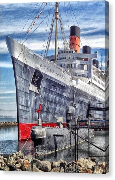 Queen Mary In Long Beach Canvas Print