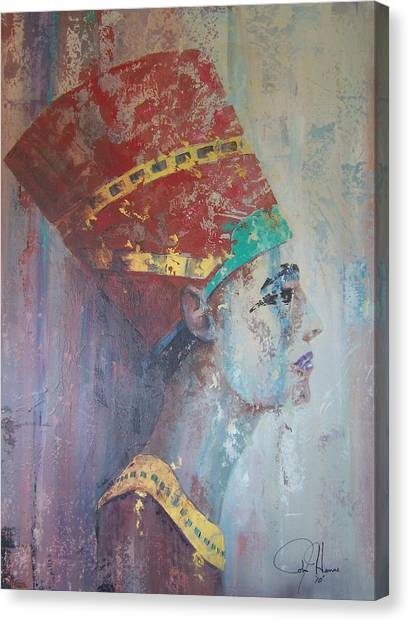 Egyptian Art Canvas Print - Queen Nefertiti by John Henne
