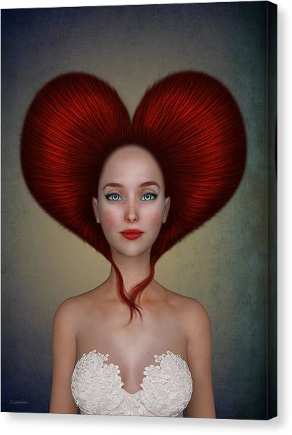 Queens Canvas Print - Queen Of Hearts by Britta Glodde