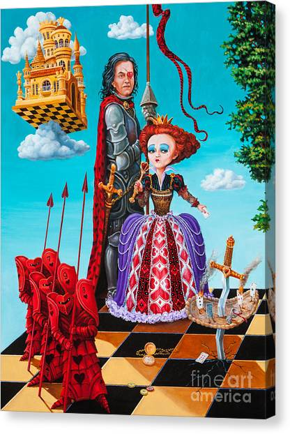 Queen Of Hearts. Part 1 Canvas Print