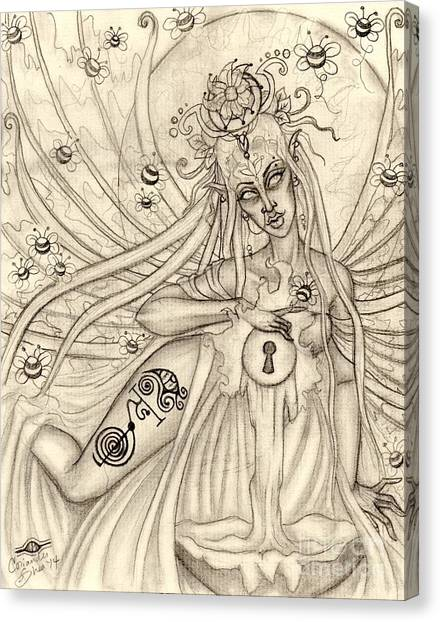 Queen Oonagh Canvas Print by Coriander  Shea
