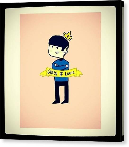 Spock Canvas Print - #queen #spock - #startrek by Daniela Barisone