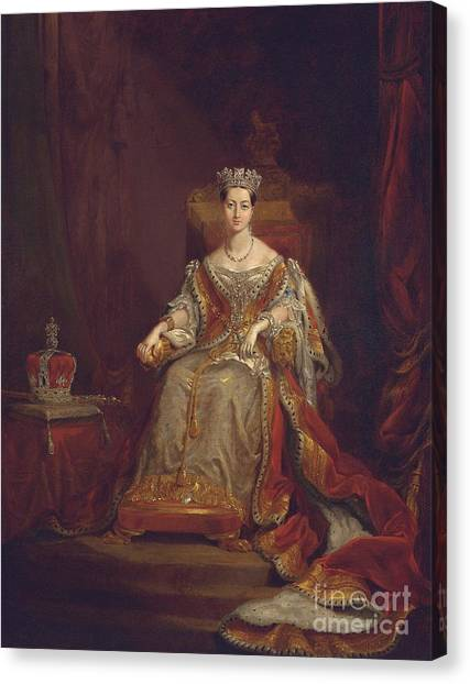Rulers Canvas Print - Queen Victoria by Sir George Hayter
