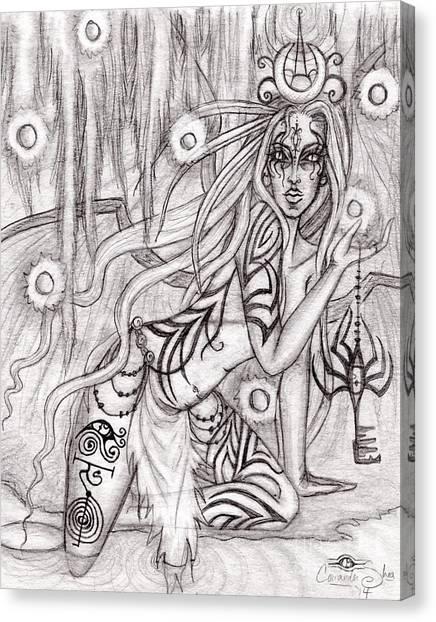 Queen W' Alatien Canvas Print by Coriander  Shea