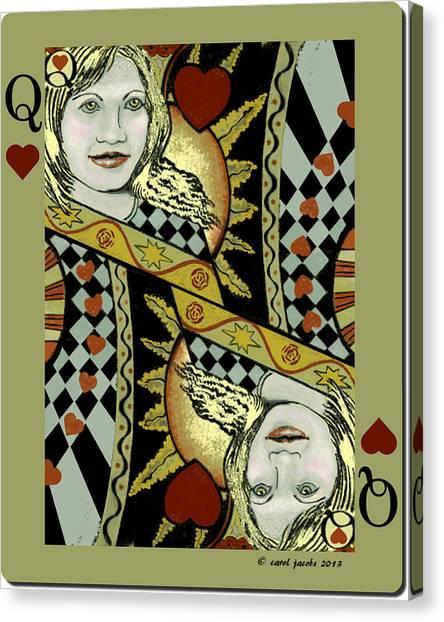 Queen's Card II Canvas Print