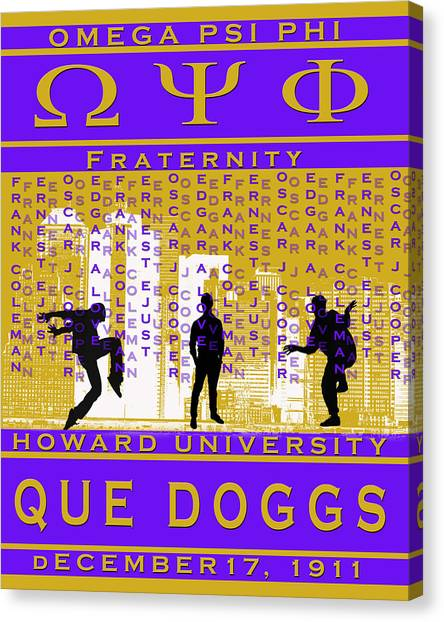 Omega Psi Phi Canvas Print - Ques Steppin by Rodney Wofford